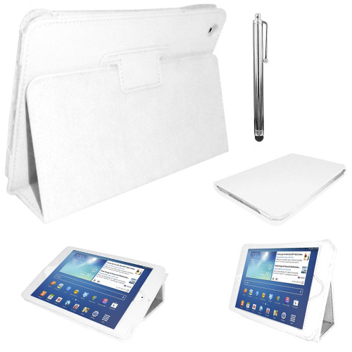 White PU Leather Magnetic Case for Samsung Galaxy Tab 3 8 (T310/T311)
