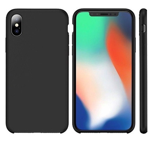 Apple I Phone X Rubber Matte Shockproof  Liquid Silicon Case