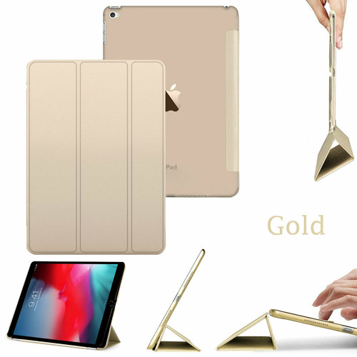 Apple ipad Mini 5 2019 Smart Magnetic Leather Stand Gold Case