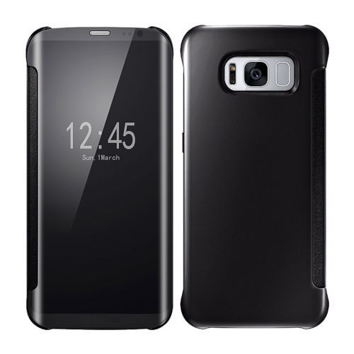 Samsung Galaxy Note 9 Mirror Smart View Clear Flip Phone Cover -  Black