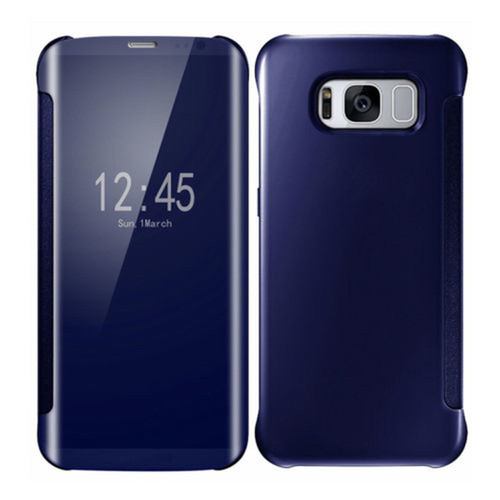 Samsung Galaxy Note 9 Mirror Smart View Clear Flip Phone Cover -  Navy Blue