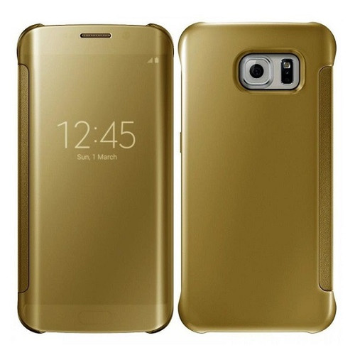 Samsung Galaxy Note 9 Mirror Smart View Clear Flip Phone Cover - Gold