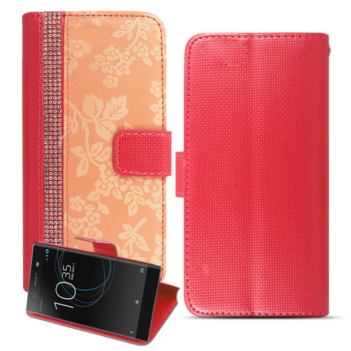 Copy of Copy of Sony Xperia L3 Bling Glitter Magnetic Flip Leather Pink Case