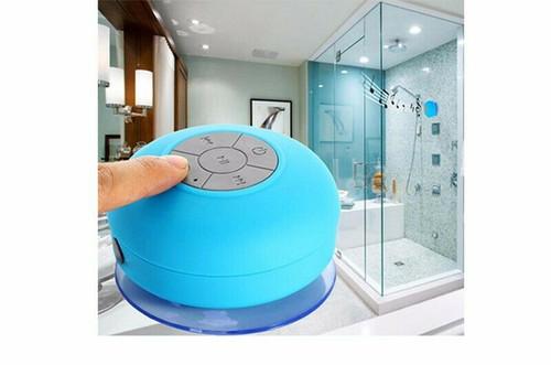 Blue Mini Waterproof Wireless Bluetoo  Shower Speaker