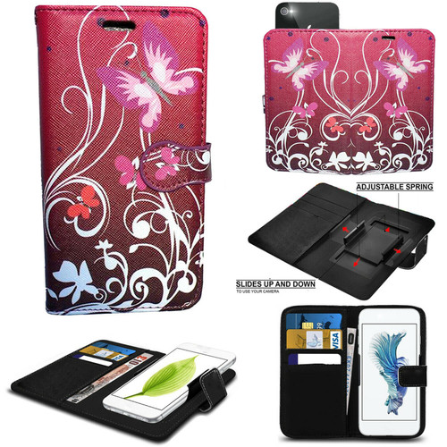 Butterfly on Purple Book Sony Xperia L3 Wallet Leather Stand  Case