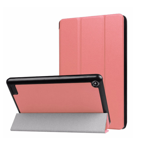 Amazon Kindle Fire HD 8 (2018) Rose Gold Tri Foil Smart Slim Leather Case (7th & 8th Generation)