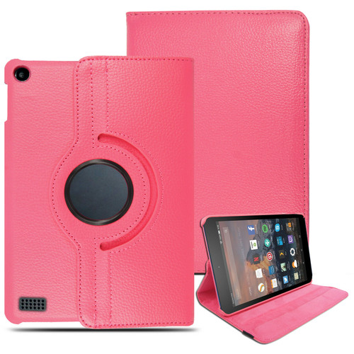 Kindle Fire HD6 (2014) Pink  Smart Leather Stand Case