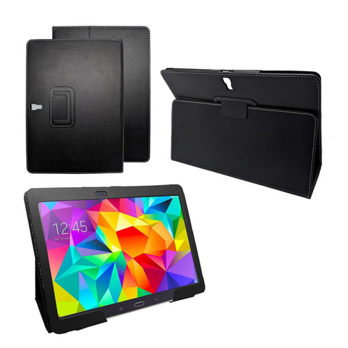 Samsung Galaxy Tab S 10.5 (T800/T801/T805)  Black Premium PU Leather Smart Case