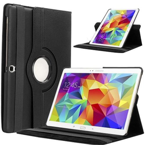 Black PU Leather 360 Rotating Case for iPad Air / iPad 5