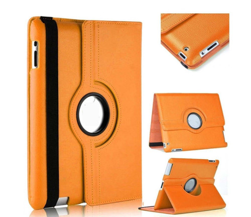 Orange PU Leather 360 Rotating Case for iPad Air / iPad 5