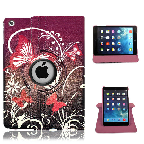 iPad  9.7(2018) Butterfly on purple Smart Stand  Magnetic Case