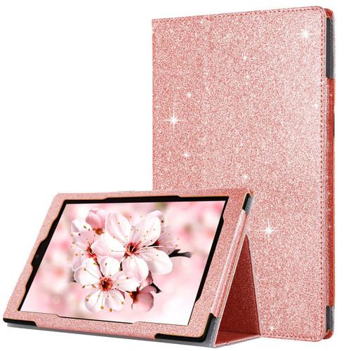 iPad  9.7(2018) &(2017) Rose Gold Book Glitter Luxury stand Case