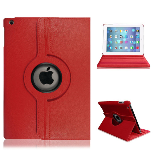 iPad  9.7(2018) Red Smart Stand Leather Magnetic Case