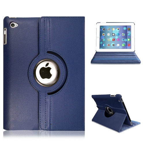 iPad  9.7(2018) Navy Blue Smart Stand Leather Magnetic Case