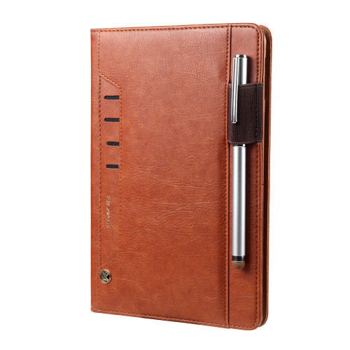 iPad  9.7(2018) Leather Smart Stand Case Brown Cover