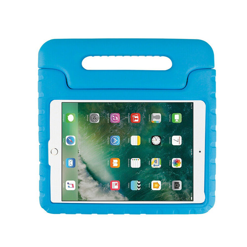 Apple iPad 10.2 (7th Generation) 2019 Blue Kid Shockproof Handle Stand Case