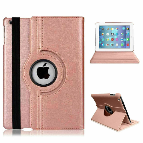 Apple iPad 10.2 (7th Generation) 2019 360 Rose Gold Rotating Stand Case Cover