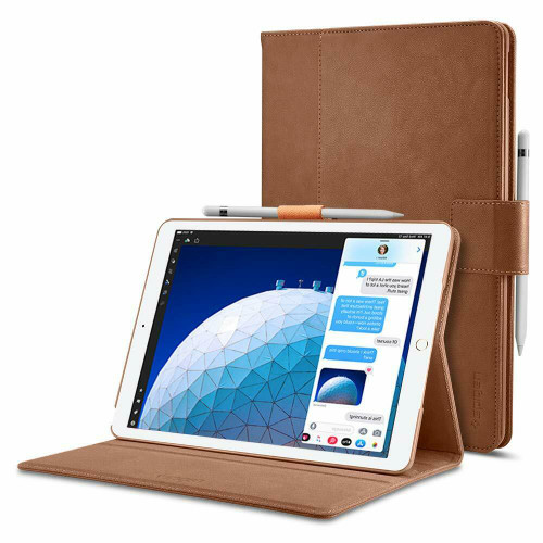 iPad Air 3 10.5″ (5th Generation) Case, Spigen Stand Folio Cover - Brown