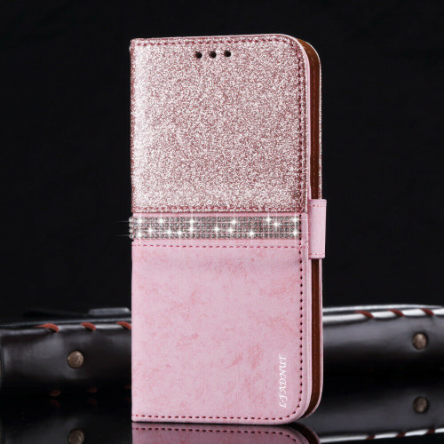 Samsung Galaxy  S10  Smart Rose Gold Bling Glitter Crystal Diamond case