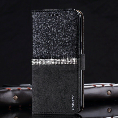 Samsung Galaxy  S10  Smart Black Bling Glitter Crystal Diamond case