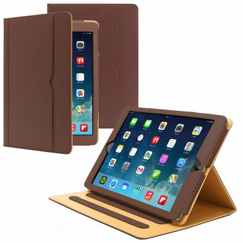 Apple iPad 9.7(2018)(2017)Brown Luxury Magnetic Leather Stand Case