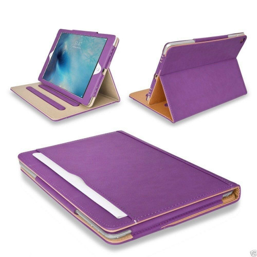 Apple Pad 9.7(2018)(2017)Purple Luxury Magnetic Leather Stand Case
