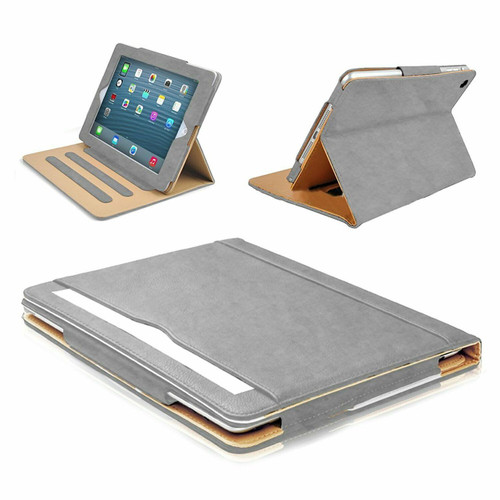 Apple iPad 9.7(2018)(2017) Grey Luxury Magnetic Leather Stand Case