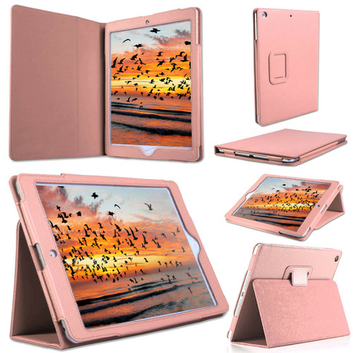 Apple iPad 9.7(2018)(2017) Rose Gold Luxury Magnetic Leather Stand Case
