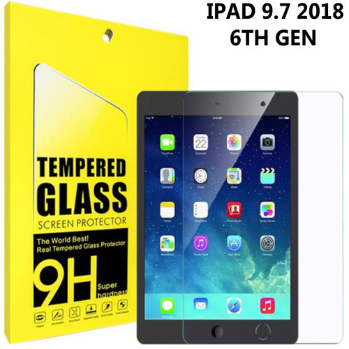 "Genuine Tempered Glass Film Screen Protector Fits Apple iPad 6th Gen 9.7"" 2018"