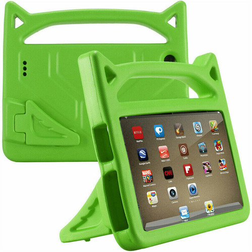 Amazon Kindle Fire HD 10 7th Gen Green  Kids Shockproof Handle Cover