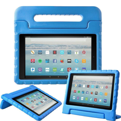Amazon Kindle Fire HD 10 7th Gen Blue Kids Shockproof Handle Cover