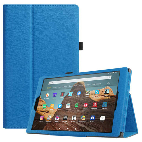 Amazon Kindle Fire HD 10 9th Gen Sky Blue Smart Leather Stand Case