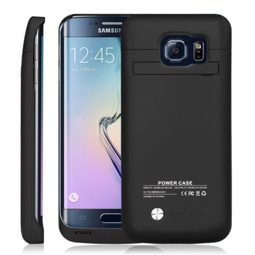 Samsung Galaxy S6 Edge 4200mAh External  Power Bank Battery Case - Black