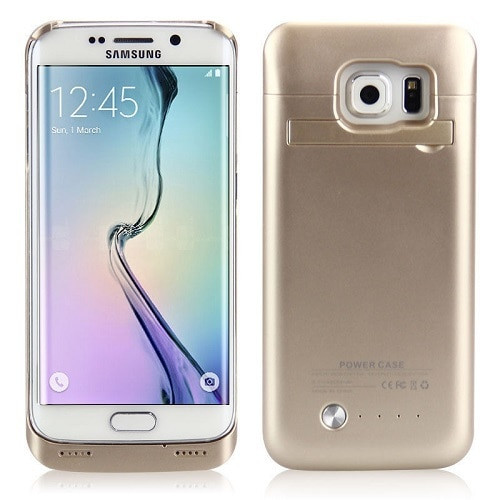 Samsung Galaxy S6 Edge 4200mAh External  Power Bank Battery Case -Gold