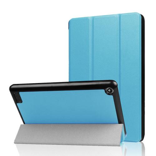 Amazon Fire 7 2019 9th Gen SkyBlue Slim Book Smart Cover