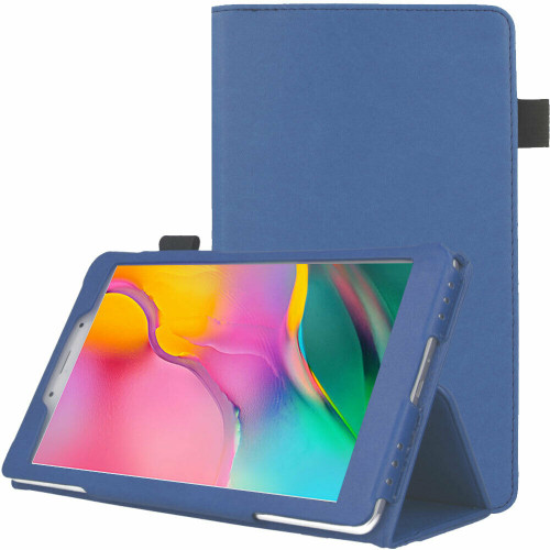 "Samsung Galaxy Tab A 8.0"" 2019 SM-T290 T295  light blue Leather Smart Stand Book Flip  Cover"