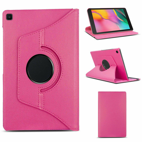 "Samsung Galaxy Tab A 8.0"" 2019 SM-T290 T295 360 Rotating Stand Pink Case"