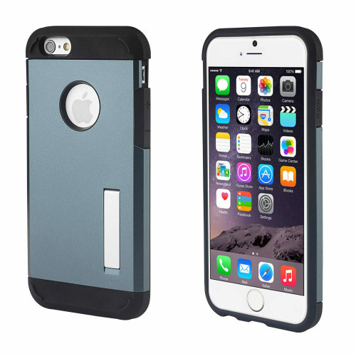 Apple iPhone 4 / 4S Navy Blue Rugged Shockproof Armor Protective TPU Hard Case