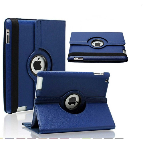 Apple ipad Mini 5 2019 360 Rotating & Protection Magnetic Stand  Navy Blue Case