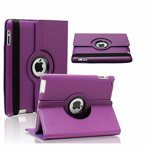 Apple ipad Mini 5 2019 360 Rotating & Protection Magnetic Stand  Purple Case