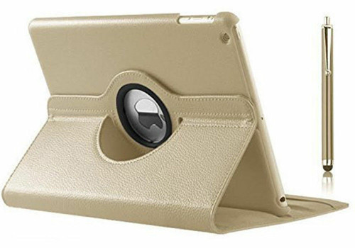 Apple ipad Mini 5 2019 360 Rotating & Protection Magnetic Stand  Gold Case