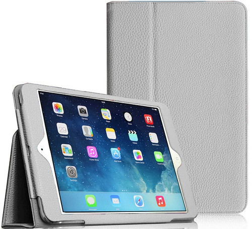 "Apple iPad Mini 5 2019 7.9"" Inch Case Smart Leather Tablet Stand White Case"