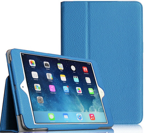 "Apple iPad Mini 5 2019 7.9"" Inch Case Smart Leather Tablet Stand Sky Blue Case"