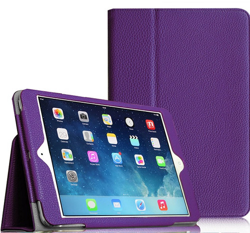 "Apple iPad Mini 5 2019 7.9"" Inch Case Smart Leather Tablet Stand Purple Case"