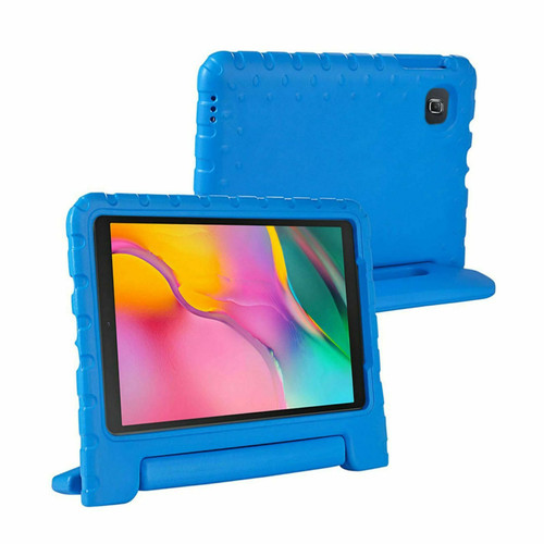 Samsung Galaxy Tab A 2019 10.1 T510 T515 Full Body Handle Stand Blue Case