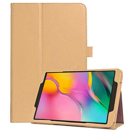 Samsung Galaxy Tab A 10.1 (2019) T510/T515 Leather Tablet Stand Gold Case