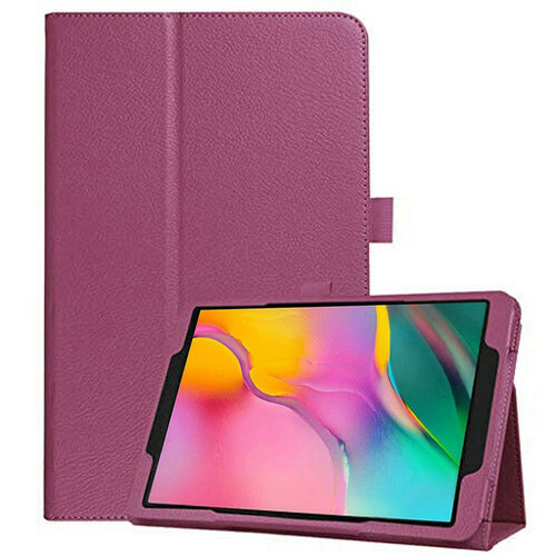 Samsung Galaxy Tab A 10.1 (2019) T510/T515 Leather Tablet Stand Purple Case