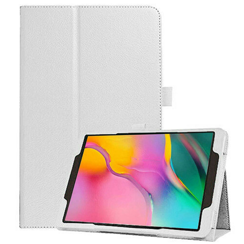 Samsung Galaxy Tab A 10.1 (2019) T510/T515 Leather Tablet Stand White Case