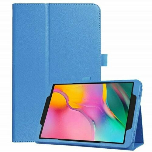 Samsung Galaxy Tab A 10.1 (2019) T510/T515 Leather Tablet Stand Sky Blue Case