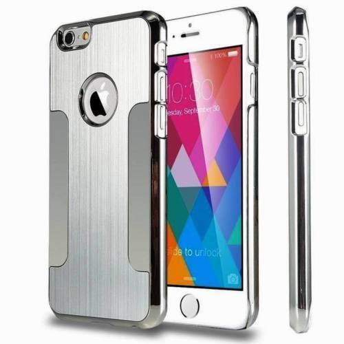 Apple iPhone4/4s Silver Luxury Brushed Aluminium Chrome Hard Case